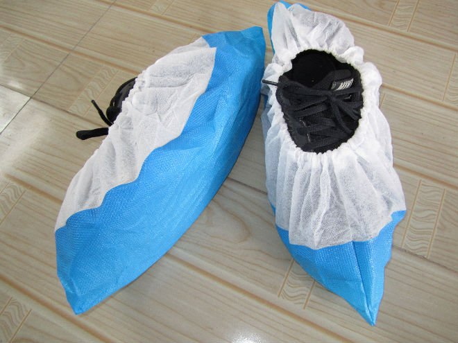 2017 Cheap disposable outdoor waterproof pp+cpe shoe cover