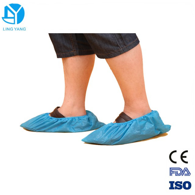Anti Skid Plastic Disposable Shoe Covers For Workmen 41*15cm / 38*16cm
