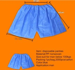China Breathable Disposable SPA Products Non Woven Short Pants Anti Bacteria supplier