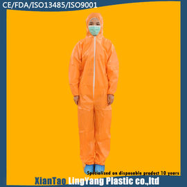 China Chemical Resistant Disposable Cleanroom Coverall , Custom Disposable Dust Suits supplier