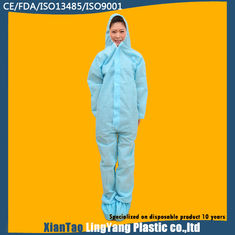 China Long Sleeve Disposable Waterproof Coveralls One Piece Work Uniform ISO Standard supplier