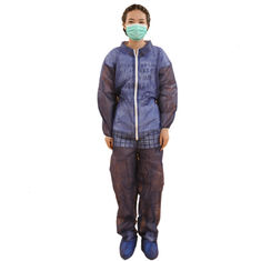 China S-3XL Non Woven Coverall Disposable Construction Work Wear Clothing 25-60g/M2 supplier