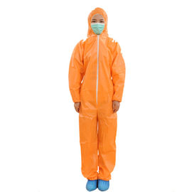 Orange Impervious Non Woven Coverall For Health Care Free Sample Available