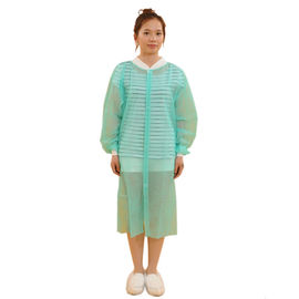 Water Resistant Disposable Lab Aprons With Knitted Cuff Anti Bacteria