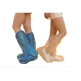 China Clear Plastic Disposable Boot Covers Work Boot Covers Excellent Strength supplier