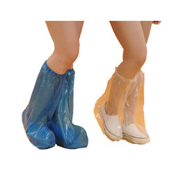 China PE/ CPE  Waterproof Disposable Boot Covers / Disposable Rain Shoe Covers supplier