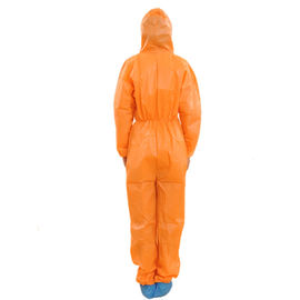 China Soft Single Use Non Woven Coverall With Hood Anti Dust / Paint S-3XL Size supplier