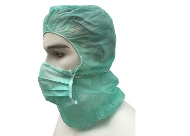 China PP Non Woven Hooded Disposable Head Cap For Keeping Clean Low Linting supplier