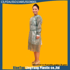 China Custom Made Disposable Chemotherapy Gowns , Cardinal Health Isolation Gowns supplier