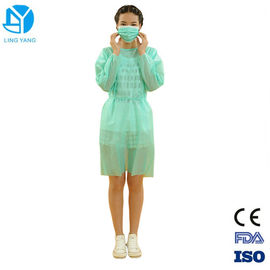 China Long Sleeve Hospital Disposable Isolation Gowns Fluid Resistant Easy Removal supplier
