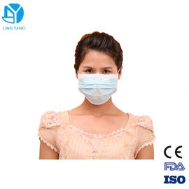China Hospital Disposable Face Mask To Prevent Flu 3 Ply Water Resistance supplier