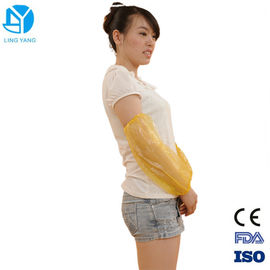 China PE  Plastic Disposable Sleeve Covers / Disposable Arm Sleeves 40x20cm Size supplier