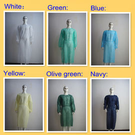 China Non Woven Disposable Isolation Gowns With Elastic Cuff / Long Sleeves supplier