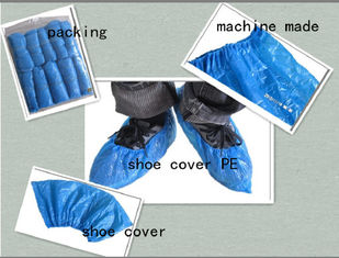 China PE CPE PP Non Slip Disposable Shoe Covers Blue Rainproof 1.5G~7G Weight supplier