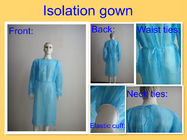 China SMS PP Disposable Surgical Gown , Medical Isolation Gowns For Patient Round Neck company