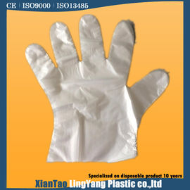 China White Disposable PE Gloves , One Size Fit All Disposable Food Service Gloves factory