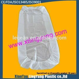 China Durable Disposable Fitted Bed Sheets , Elastic Corner Disposable Mattress Cover factory