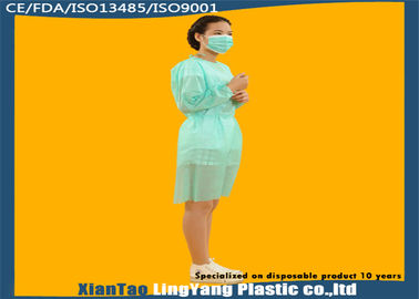 China Customized Disposable Protective Gowns , Plastic Isolation Gowns Eco Friendly factory