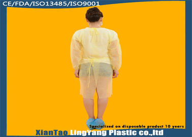 China Durable Elastic Cuff Disposable Dressing Gowns , Disposable Surgical Apron OEM Service factory
