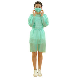 China Full Coverage Green Disposable Isolation Gowns Pp/Sms/Pp+Pe Material factory
