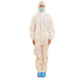 Durable Disposable Painters Coveralls , White Disposable Coveralls With Hood
