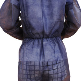 Lightweight Non Woven Coverall Without Hood Disposable Protective Clothing