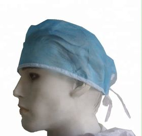 China Pp / Sms Material Disposable Head Cap Hospital Head Cover ISO13485 / FDA Approval factory