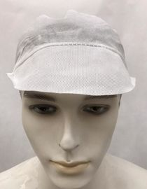 China 21 Inches Disposable Head Cap Disposable Hats Food Industry Use Anti Dust factory