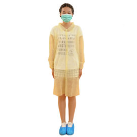 Protective SMS Sms Disposable Lab Coats , Surgical Lab Coats With Knitted Cuffs
