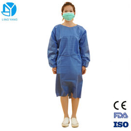 China S-5XL Size Patient Disposable Surgeon Gown With Elastic Wristband / Thumb Loop factory