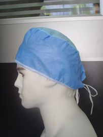 China Personal Protective Disposable Head Cap Blue Doctor Head Cover Latex Free factory
