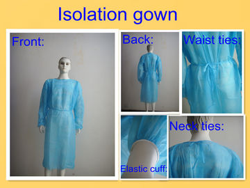 SMS PP Disposable Surgical Gown , Medical Isolation Gowns For Patient Round Neck