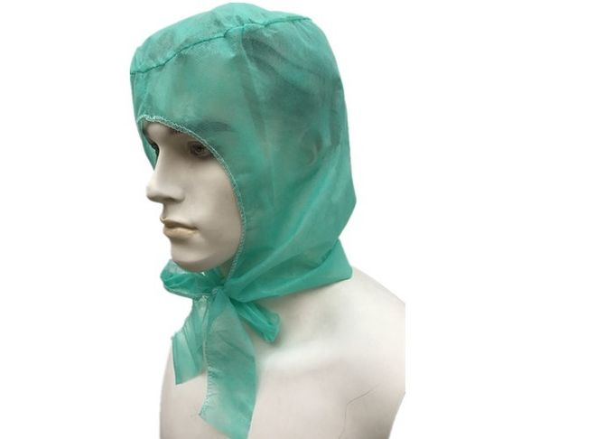 PP Non Woven Hooded Disposable Head Cap For Keeping Clean Low Linting