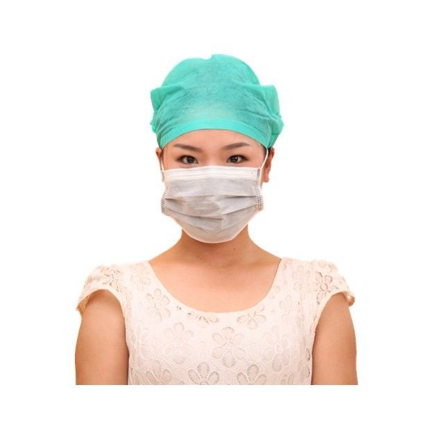 Anti Virus Disposable Non Woven Face Mask , Activated Carbon Medical Mouth Mask Black