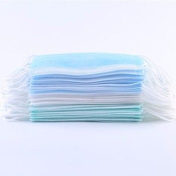 Hospital Disposable Face Mask To Prevent Flu 3 Ply Water Resistance